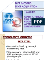 Tata Corus Aquisition
