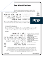 Friday Night Kiddush QuickGuide