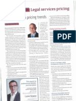 Richard Burcher Law Talk Article on Legal Services Pricing