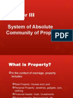 Absolute Community Property