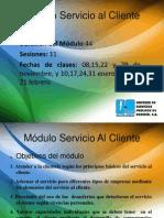 Módulo Servicio al Cliente 2012