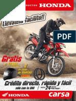 Catalogo Carsa Productos Honda Motos Motokars