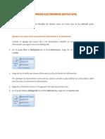 Referencias Electronicas (Estilo APA)