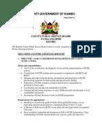 Advertisement for County  Directors.