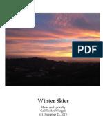 Winter Skies - sheet music