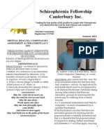 Schizophrenia Fellowship Canterbury Newsletter Summer 2013