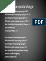 Lagu Penjodoh Bilangan