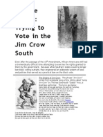 Jim Crow and Voting