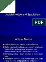 Judicial Notice Stipulations Presumptions and Burden 11-16-11