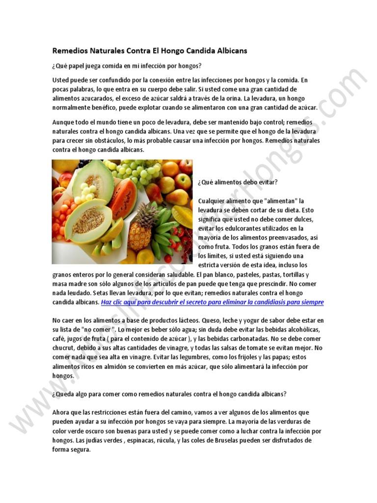 remedios para la candidiasis albicans