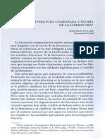 Culler LITERATURA COMPARADA Y TEORÍA LITERARIA