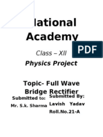 Full Wave Bridge Rectifier Class12