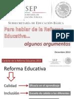 para hablar de la reforma educativa