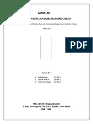 Kliping Sejarah Masuknya Islam Ke Indonesia Guru Paud