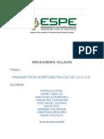 Informe #1-Grupo #1- Parametros Morfometricos