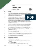 Aashto T-193 Standard Method of Test for the California Bearing Ratio