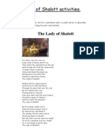 Lady of Shalott Activities