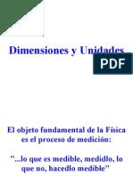 Dimensiones y unidades