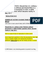 Should the U.S. Military Enter Pakistan Without Permission