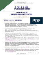 Using Diplomatic Notes