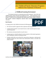 Early Child Learn Env
