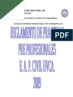 Reglamento de Practicas Pre Profesionales-2009