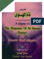 A Chapter on The Dispraise of Desire - Ibn Al-Qayyem - فصل في ذم الهوى