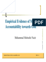 Empirical Evidence for Man's Accountability to God