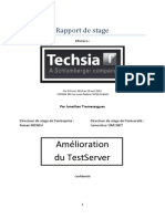 Rapport de Stage Techsia 2010