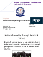 National Security Through Livestock Rearing