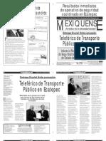Versión impresa del periódico El mexiquense 14 enero 2014