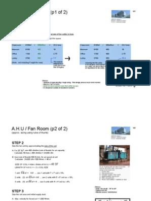 Ahu Room Size Pdf Elevator Machines
