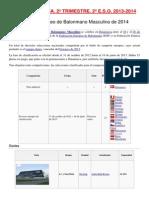 Artículo de Lectura. Campeonato Europeo de Balonmano Masculino de 2014