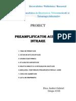 Preamplificator Audiopeamli