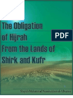 The obligation of hijrah from the lands of shirk and kufr