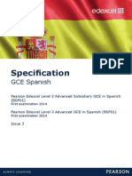 gce spanish specification september 2013