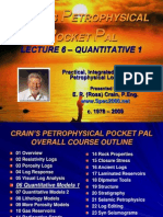 Petrophysical Pocket Pal Lecture 6