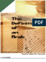 The Definition of an Arab by Ibn Taymiyyah