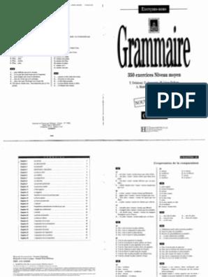 Hachette Grammaire Francaise 350 Exercices Niveau Moyen Corriges