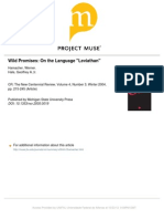 Wild Promises - On the Language 'Leviathan'