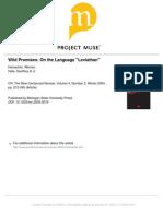 Wild Promises - On the Language 'Leviathan'