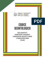 codice deontologico architetti