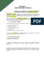 Especificaciones Tecnicas Cableado Estructruado