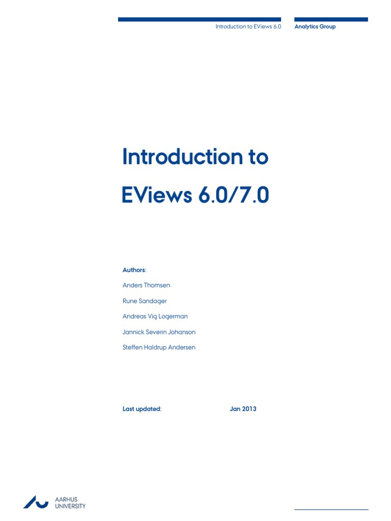 Eviews 7 0 Manual | Statistical Hypothesis Testing | F Test