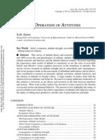 Ajzen, Attitude Theory, AnnRevPsy 2001
