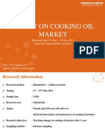 W&S Report Cooking Oil Tracking October 2013