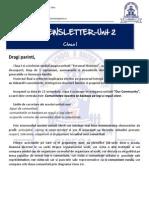 Newsletter Unit 2