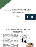 Como Actuar Frente Una Emergencia