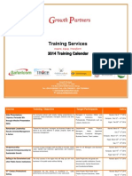 Growth Partners Training Services Calendar 2014