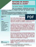 Formation Continue Acquisition Des Bases de Francais Ecrit